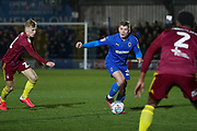 \w23z\ dribbling during the EFL Sky Bet League 1 match between AFC Wimbledon and Ipswich Town at the Cherry Red Records Stadium, Kingston, England on 11 February 2020.