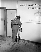 05/01/1972.01/05/1972.05 January 1972.Troops return from Cyprus to Dublin.  Cpl. Pat Butler (from Wexford) Cathal Brugha Barracks, Dublin receives a special welcome from hisgirlfriend Miss Patricia O'Reilly, Bundoran, who was at the Airport even though it was 1.30 A.M..