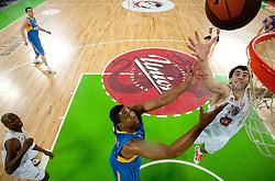 Giorgi Shermadini of Olimpija during basketball match between KK Union Olimpija (SLO) and Maccabi Tel Aviv (ISR) of Top 16 Game of Turkish Airlines Euroleague, on February  17, 2011 in SRC Stozice, Ljubljana, Slovenia.  (Photo By Vid Ponikvar / Sportida.com)