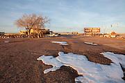 Parking lot at Petrified Forest National Park, Arizona