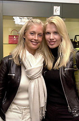 Left to right, sisters MISS LIBBY WHITE-COOPER and <br /> MISS CATHERINE WHITE-COOPER close friend of <br /> Chelsea FC manager Gianaluca Vialli, at a party in London <br /> on 4th May 2000.ODJ 30<br /> © Desmond O'Neill Features:- 020 8971 9600<br />    10 Victoria Mews, London.  SW18 3PY <br /> www.donfeatures.com   photos@donfeatures.com<br /> MINIMUM REPRODUCTION FEE AS AGREED.