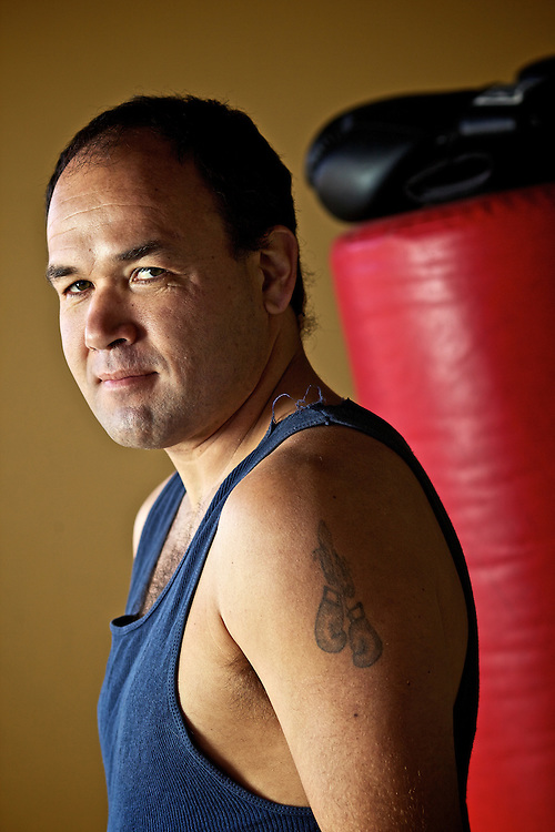 "Frank Bybee, known as the ""Worley Warrior,"" trains for boxing in Desmet. Bybee, 36, was in 17 professional matches between 2000 and 2006, He stopped boxing after being knocked out in 2007. He still spars and trains, and has never stopped thinking about getting back in the ring."