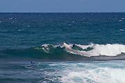 Surfing at the rugged East Coast at Bathsheba.