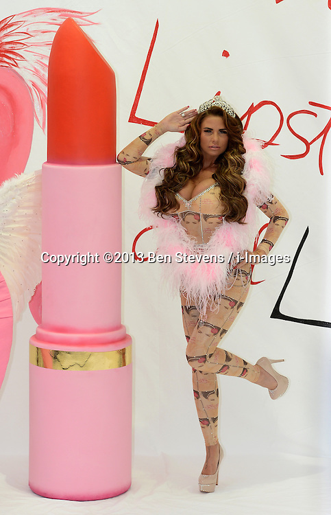 Katie Price launches her latest autobiography, 'Love Lipstick and Lies' at The Worx Studios, Parsons Green, London, UK. Tuesday, 22nd October 2013. Picture by Ben Stevens / i-Images