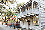 Old homes in the historic district in St. Augustine, Florida. St Augustine is the oldest city in America.