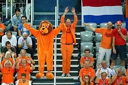 08-09-2015 CRO: FIBA Europe Eurobasket 2015 Slovenie - Nederland, Zagreb<br /> De Nederlandse basketballers hebben de kans om doorgang naar de knockoutfase op het EK basketbal te bereiken laten liggen. In een spannende wedstrijd werd nipt verloren van Slovenië: 81-74 / Fans of Netherlands. Photo by Matic Klansek Velej / RHF