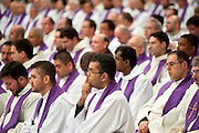 Vatican City feb 10th 2016, the pope leads the Ash Wednesday Mass. In the picture the Mercy Missionaries