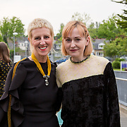 11.05. 2017.                                                 <br /> Over 20 leading Irish and international fashion media and influencers converged on Limerick for 24 hours on, Thursday, 11th May for a showcase of Limerick's fashion industry, culminating with Limerick School of Art & Design, LIT, presenting the LSAD 360° Fashion Show, sponsored by AIB.<br /> Pictured at the event were, Anne Melinn, LSAD and Gemma Williams, Vogue Italia. Picture: Alan Place
