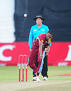 Dwayne Bravo , West Indies during the 2015 KFC T20 International Series cricket match between South Africa and West Indies at the Kingsmead Stadium in Durban on the 14th of January 2015<br /> <br /> ©Sabelo Mngoma/BackpagePix