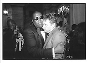 Hilton Als and Howard Michels. FSG 50th anniversary. © Copyright Photograph by Dafydd Jones 66 Stockwell Park Rd. London SW9 0DA Tel 020 7733 0108 www.dafjones.com