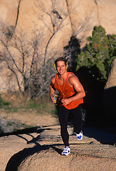Man in Joshua Tree National Park running
