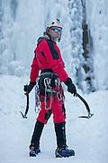 Roger Alderson, Sandstone, MN, ice climbing