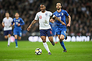 England forward Raheem Sterling (10) during the Friendly match between England and Italy at Wembley Stadium, London, England on 27 March 2018. Picture by Toyin Oshodi.