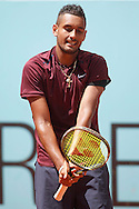 Nick Kyrgios during the Madrid Open at Manzanares Park Tennis Centre, Madrid<br /> Picture by EXPA Pictures/Focus Images Ltd 07814482222<br /> 04/05/2016