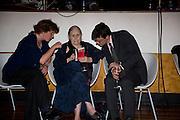 BECKY SWIFT; DORIS LESSING; DANILE COOPER, BBC Four Samuel Johnson Prize party. Souyh Bank Centre. London. 15 July 2008.  *** Local Caption *** -DO NOT ARCHIVE-© Copyright Photograph by Dafydd Jones. 248 Clapham Rd. London SW9 0PZ. Tel 0207 820 0771. www.dafjones.com.