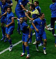 Photo: Glyn Thomas.<br />Italy v France. FIFA World Cup 2006 Final. 09/07/2006.<br /> Italy's Fabio Cannavaro (C) leads the celebrations.
