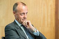 """18 JUN 2018, BERLIN/GERMANY:<br /> Friedrich Merz, Vorsitzender des Aufsichtsrates BlackRock Asset Management Deutschland AG, Veranstaltung Wirtschaftsforum der SPD: """"Finanzplatz Deutschland 2030 - Vision, Strategie, Massnahmen!"""", Haus der Commerzbank<br /> IMAGE: 20180618-01-161"""