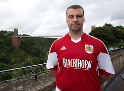 Blackthorn squad number winner Craig Kenna - Photo mandatory by-line: Kieran McManus/JMP - Tel: Mobile: 07966 386802 31/07/2013 - SPORT - FOOTBALL - Avon Gorge Hotel - Clifton Suspension bridge - Bristol -  Team Photo