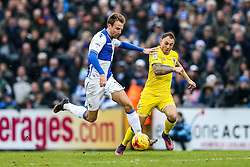 Chris Lines of Bristol Rovers is challenged by Barry Fuller of AFC Wimbledon - Rogan Thomson/JMP - 31/12/2016 - FOOTBALL - Memorial Stadium - Bristol, England - Bristol Rovers v AFC Wimbledon - Sky Bet League One.