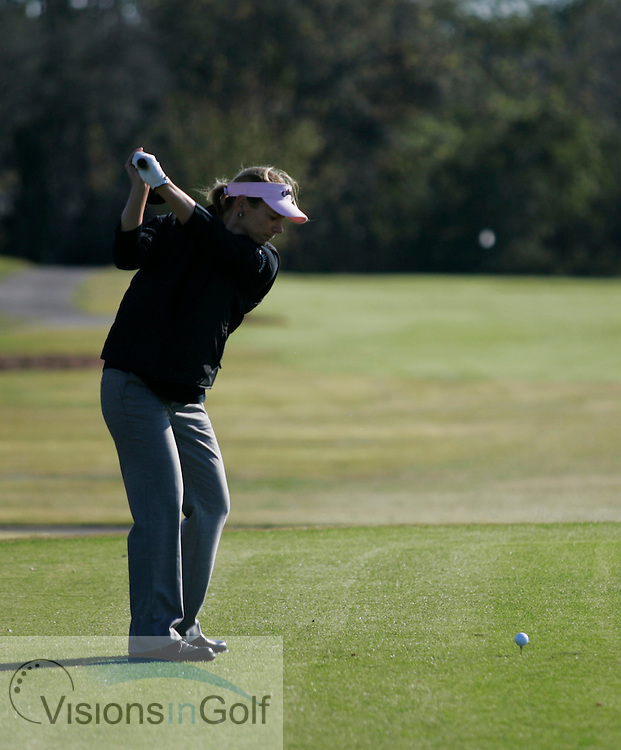 Annika Sorenstam driver swing sequence from down the line<br />Champions Gate GC, January 2005<br /><br />Photo Mark Newcombe