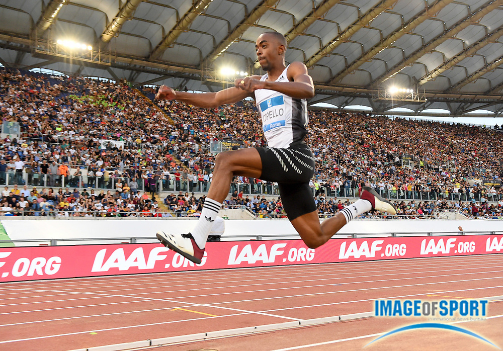 Alexis Copello (AZE) places eigthth in the triple jump at 54-11¼ (16.74m) during the 39th Golden Gala Pietro Menena in an IAAF Diamond League meet at Stadio Olimpico in Rome on Thursday, June 6, 2019. (Jiro Mochizuki/Image of Sport)
