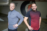 January 4, 2017 Beverly Hills, California. Will Ontiveros (27) a participant in E!'s Revenge Body. Will's weight gain turned into heartbreak when the love of his life abruptly ended their relationship. To get back his confidence, he wants to show off his new attitude and body to his ex.  Will is pictured with Gunnar Peterson<br /> Photo Copyright John Chapple / www.JohnChapple.com /