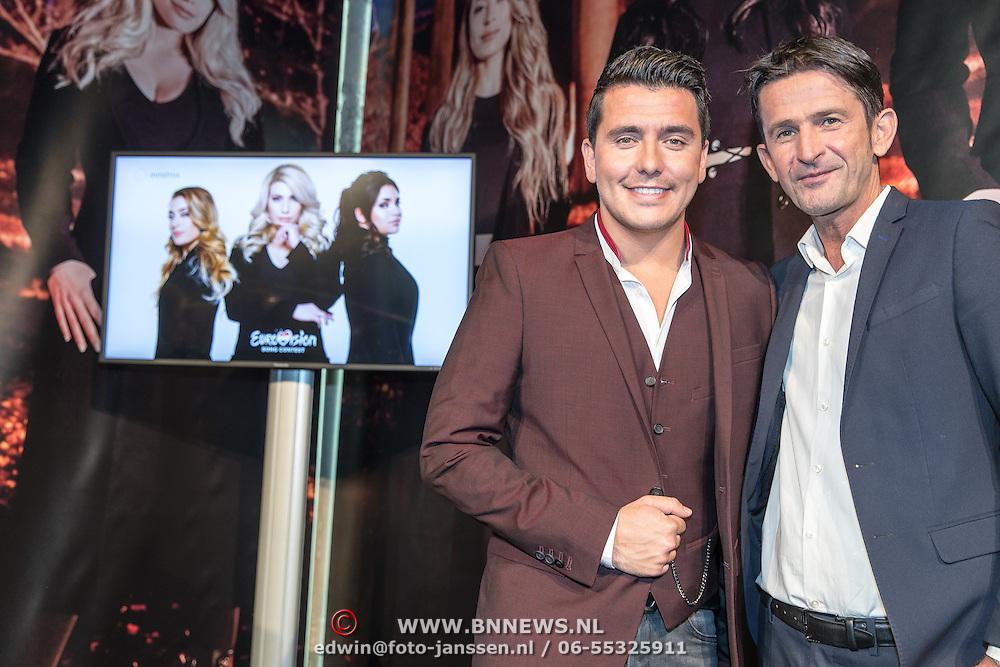 NLD/Amsterdam//20170303 - Bekendmaking Songfestival lied Ogene, Jan Smit met Cornald Maas