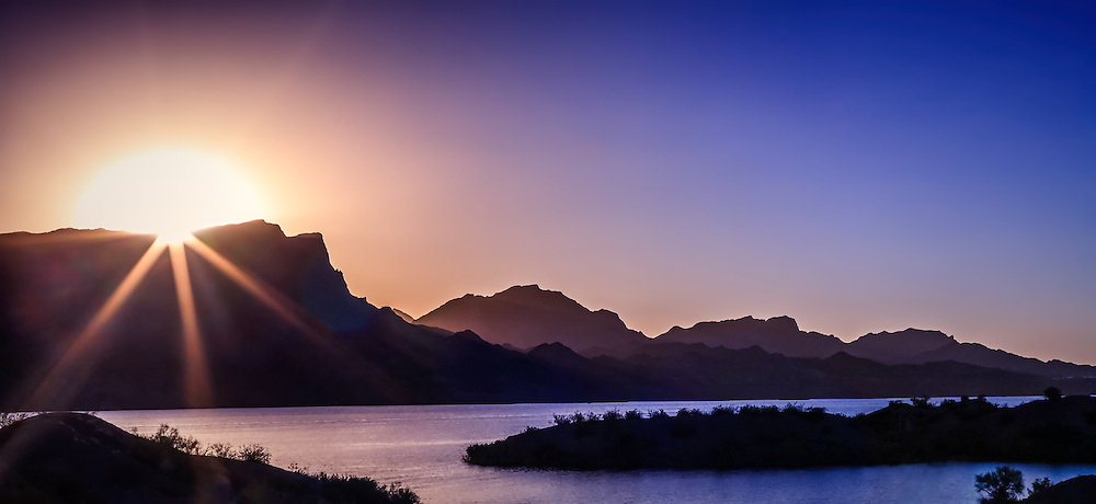 Sunset on Lake Havasu, Arizona.