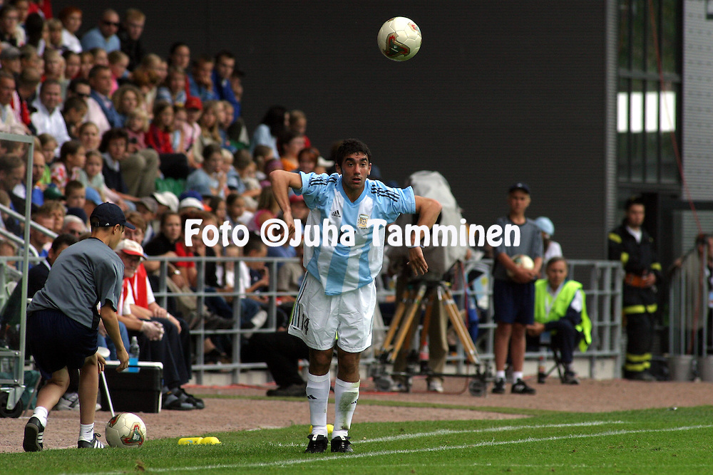 19.08.2003, Kupittaa Stadium, Turku, Finland.FIFA U-17 World Championship - Finland 2003.Match 17: Group B - Nigeria v Argentina.Lucas Nicol?s D'Alegre - Argentina.©Juha Tamminen