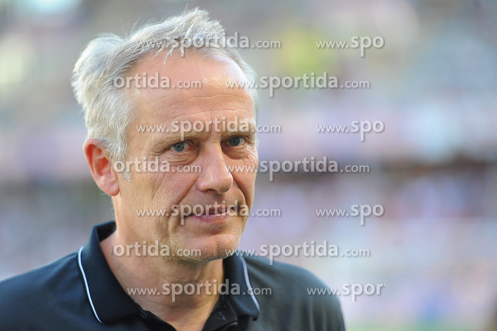 28.08.2015, Mage Solar Stadion, Freiburg, GER, 2. FBL, SC Freiburg vs SV 1916 Sandhausen, 5. Runde, im Bild Christian Streich (Chef-Trainer SC Freiburg) // during the 2nd German Bundesliga 5th round match between SC Freiburg and SV 1916 Sandhausen at the Mage Solar Stadion in Freiburg, Germany on 2015/08/28. EXPA Pictures &copy; 2015, PhotoCredit: EXPA/ Eibner-Pressefoto/ Laegler<br /> <br /> *****ATTENTION - OUT of GER*****