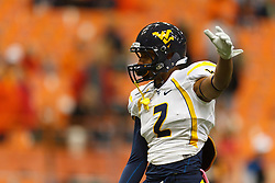 Oct 21, 2011; Syracuse NY, USA;  West Virginia Mountaineers wide receiver Brad Starks (2) warms up before the game against the Syracuse Orange at the Carrier Dome.  Syracuse defeated West Virginia 49-23. Mandatory Credit: Jason O. Watson-US PRESSWIRE