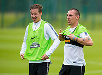 24/06/14<br /> CELTIC TRAINING<br /> LENNOXTOWN<br /> Celtic captain Scott Brown looks ready for the season ahead as the squad report back for pre-season training