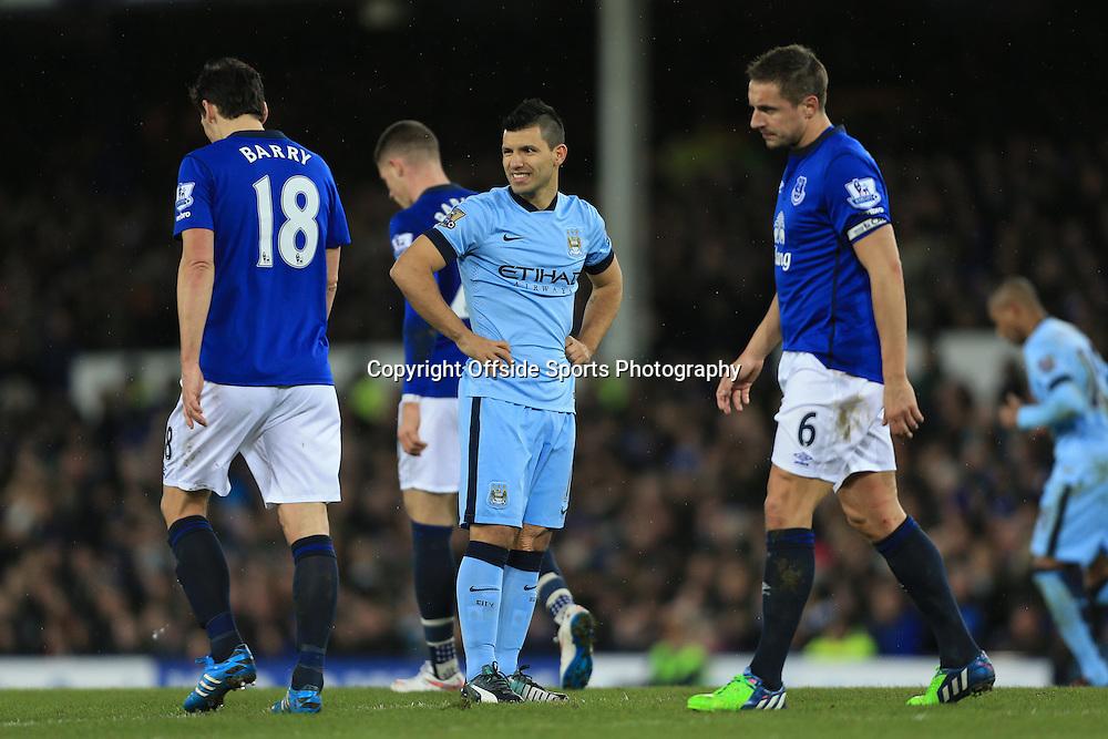 10th January 2015 - Barclays Premier League - Everton v Manchester City - Sergio Aguero of Man City looks dejected - Photo: Simon Stacpoole / Offside.