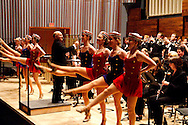 WSU dance majors join 2013 ArtsGala chair, and guest conductor, Mike Ervin as he leads the WSU Wind Symphony during the 14th Annual ArtsGala at Wright State University's Creative Arts Center, Saturday, April 6, 2013.