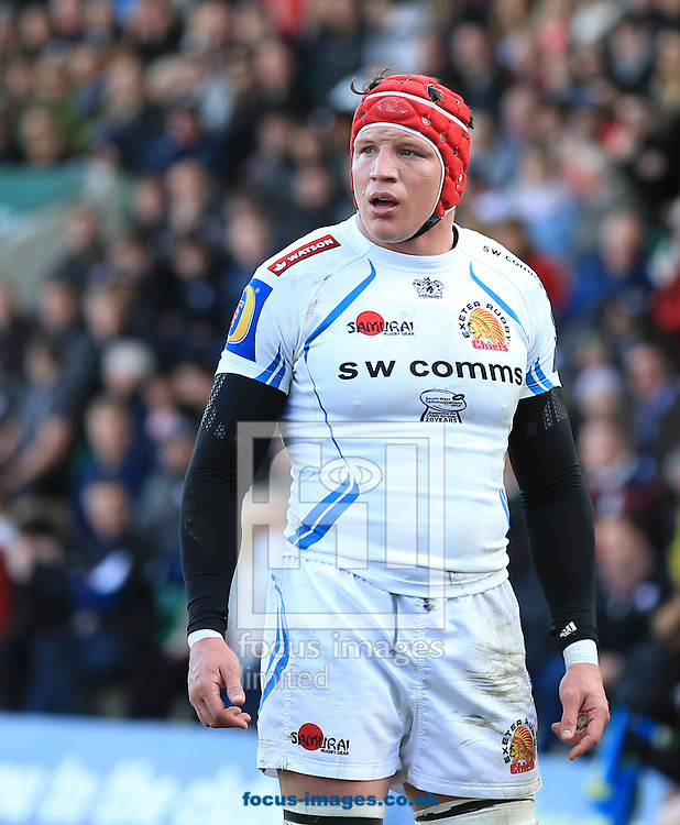 Joel Conlon of Exeter Chiefs during the LV Cup Final match at Franklin's Gardens, Northampton<br /> Picture by Michael Whitefoot/Focus Images Ltd 07969 898192<br /> 22/03/2015