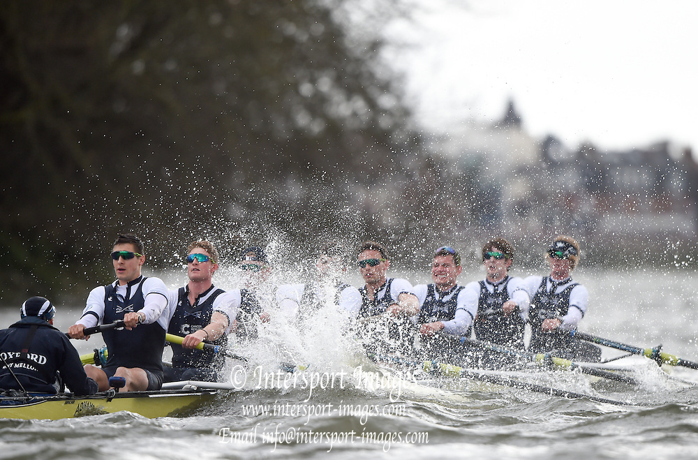 Putney - Chiswick, London,  Great Britain.<br /> <br /> 2016 University Boat Race, Oxford vs Cambridge, Putney. Putney  to Mortlake, Championship Course. River Thames.<br /> <br /> Sunday  27/03/2016 <br /> <br /> [Mandatory Credit; Peter SPURRIER/Intersport-images]