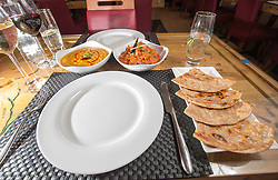 The main meal of chicken karahi with tarka daal and a plain paratha. Tam Cowan's review of the The Mumbai Mansion, 250 Morrison Street, Edinburgh.