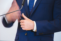 20.05.2019, Bundeskanzleramt, Wien, AUT, OeVP, Presserklaerung von Sebastian Kurz, im Bild Sebastian Kurz (OeVP)// during media conference with Sebastian Kurz of the peoples party at the chancellors office in Wien, Austria on 2019/05/20. EXPA Pictures © 2019, PhotoCredit: EXPA/ Florian Schroetter
