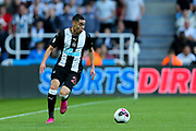Miguel Almiron (#24) of Newcastle United on the ball during the Premier League match between Newcastle United and Brighton and Hove Albion at St. James's Park, Newcastle, England on 21 September 2019.