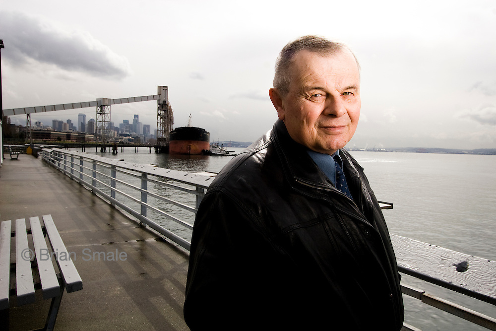 Harry Petersik, test subject for Dendreon's Provenge cancer treatment.  Photographed in Seattle for US News & World Report.