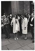 GHISLAINE MAXWELL, HENRIETTA NEWMAN, EARL OF WOOLTON AND SOPHIE BIRDWOOD WEDDING, KNIGHSBRIDGE, 1987