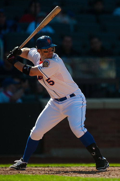 NEW YORK - APRIL 7: David Wright #5 of the New York Mets bats during the game against the Atlanta Braves at Citi Field on April 7, 2012 in the Queens borough of Manhattan. (Photo by Rob Tringali) *** Local Caption *** David Wright