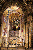 The Black Madonna, also known as Our Lady of Montserrat, is the main attraction of the Basilica at the Montserrat monastery on the outskirts of Barcelona, Spain