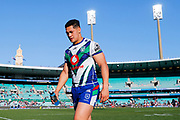 A dejected looking Roger Tuivasa-Sheck. Sydney Roosters v Vodafone Warriors. NRL Rugby League. Sydney Cricket Ground, Sydney, Australia. 18th August 2019. Copyright Photo: David Neilson / www.photosport.nz