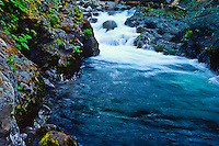 Salmon Cascades on the Sol Doc River.  Olympic National Park, Washington, USA.
