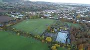 Aerial Photo Shankill Beach, Shanganagh, Cemetery, FC, Cuala, GAA, DLRC Cricket Club, M11, N11, Bray, Castle, Bray, Co Wicklow