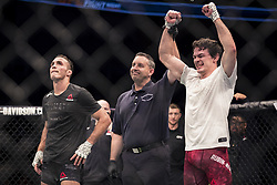 September 16, 2017 - Pittsburgh, Pennsylvania, USA - September 16, 2017: Olivier Aubin-Mercier defeats Tony Martin by split decision during UFC Fight Night at PPG Paints Arena in Pittsburgh, Pennsylvania. (Credit Image: © Scott Taetsch via ZUMA Wire)