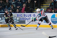 KELOWNA, CANADA - JANUARY 26: JT Barnett #17 of the Kelowna Rockets takes a shot against the Prince Albert Raiders at the Kelowna Rockets on January 26, 2013 at Prospera Place in Kelowna, British Columbia, Canada (Photo by Marissa Baecker/Shoot the Breeze) *** Local Caption ***