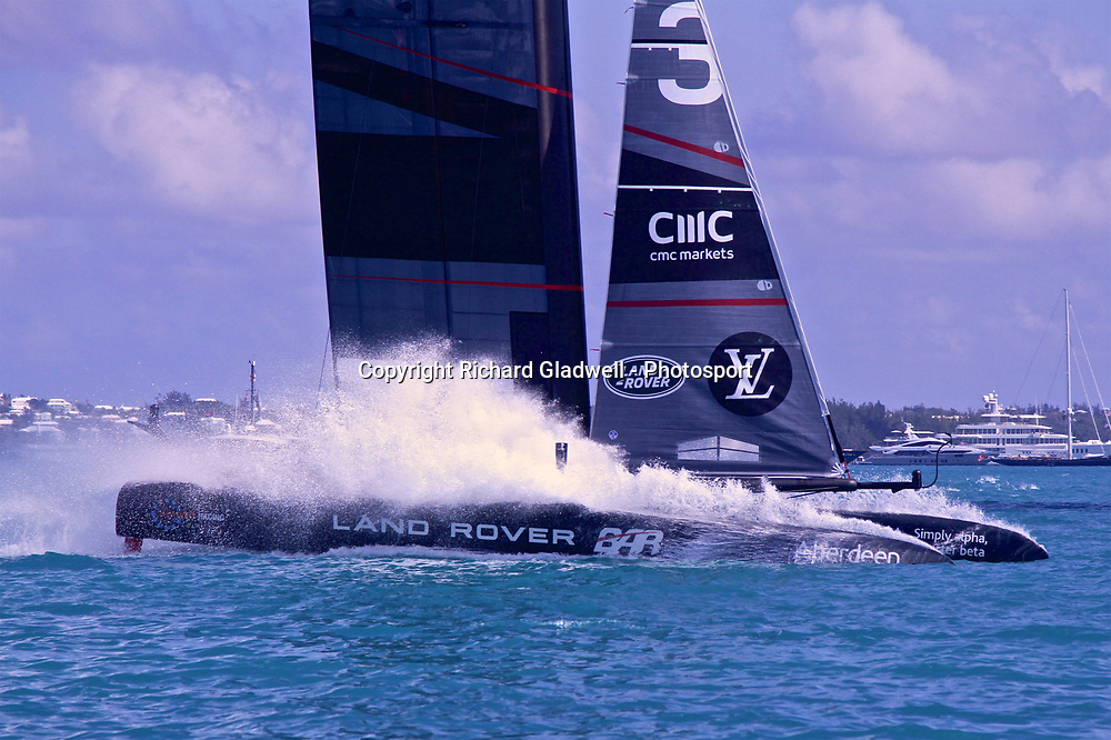 Race 11 - Land Rover BAR  at the finish - 35th America's Cup - Bermuda  May 28, 2017 . Copyright Image: Richard Gladwell / Sail World / www.photosport.nz