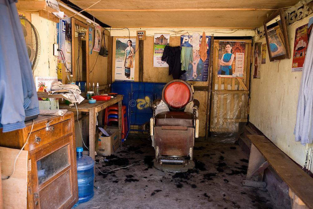 Barbers shop in Laos Asia